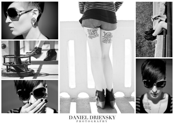 """New Shades, Shoes, and Tattoos' Tearsheet<br /> Model: Kaia Bellanca<br /> Daniel Driensky © 2011"