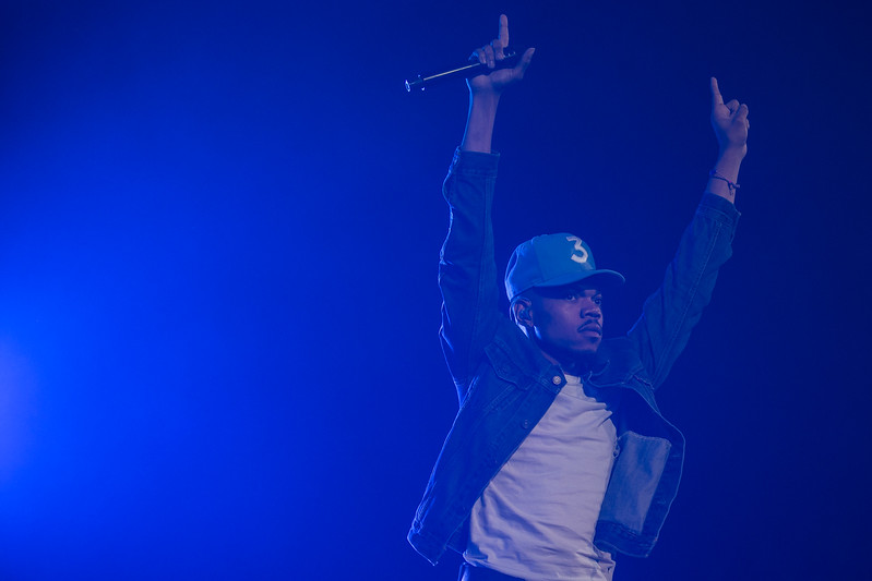 Chance the Rapper performs onstage on May 10, 2017, at the CenturyLink Center in Omaha, Nebraska.