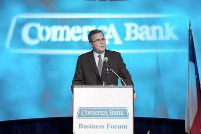 Jeb Bush, Comerica Bank, Business Forum, Dallas, © Jerry McClure