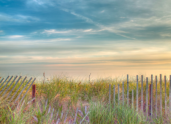 Colorful morning at Sandy Neck