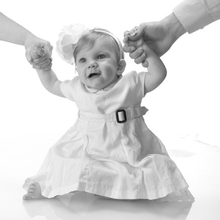 Karen Bruett Photography, Photographer, Austin Texas, Spicewood Texas, Infant Portrait, Daughter, Infant Girl, Black and White, Studio