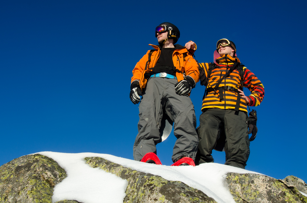 """Sebi (left) and me (right) on top of the """"Schneeberg"""""""