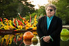 Dale Chihuly, American Glass Sculptor, With His Work 5/2/12<br /> Location: The Dallas Arboretum <br /> Photo © Daniel Driensky 2012