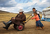 Playing on the Stepps of Mongolia