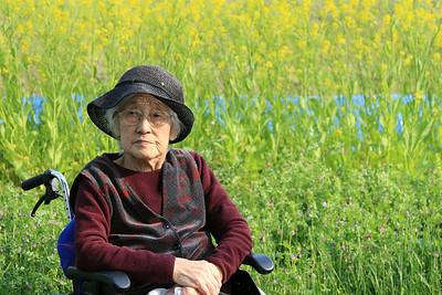 Yukie  at age 94. ゆきえおばあちゃん94歳。 金沢にて。