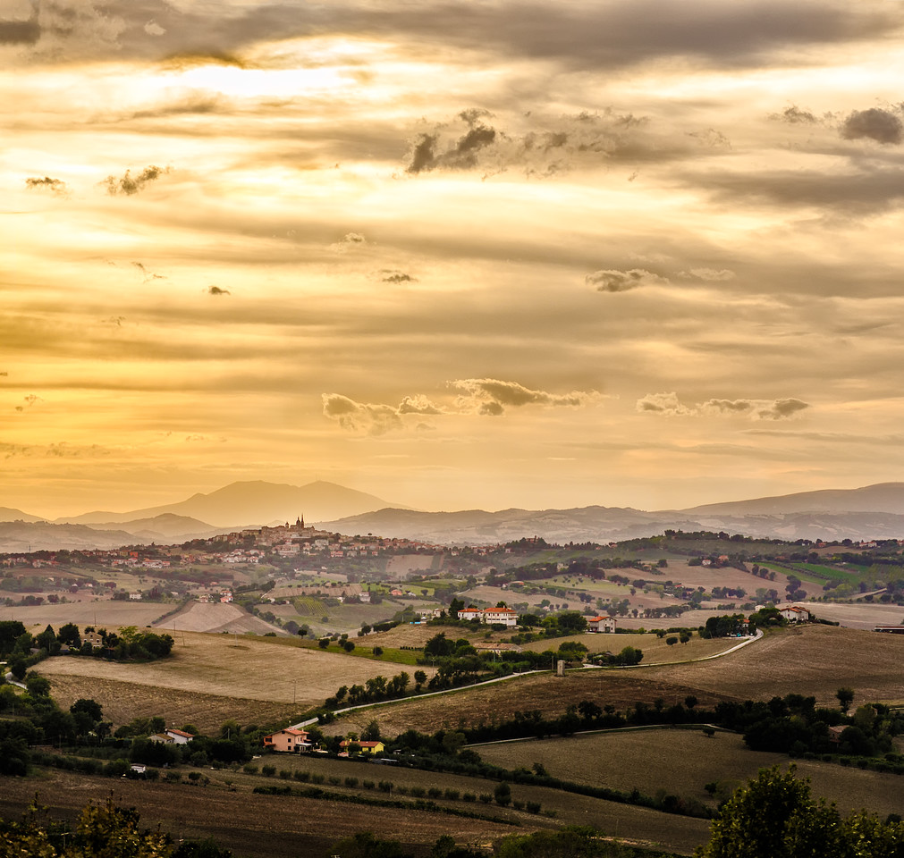 Sunset in the Marche