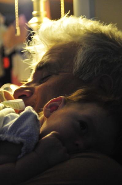 bob and baby, Berlin, NH, September 2008