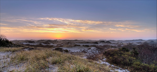 Winter Sunrise at Sandy Neck