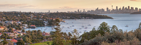 Watsons Bay and Sydney CBD from the Gap