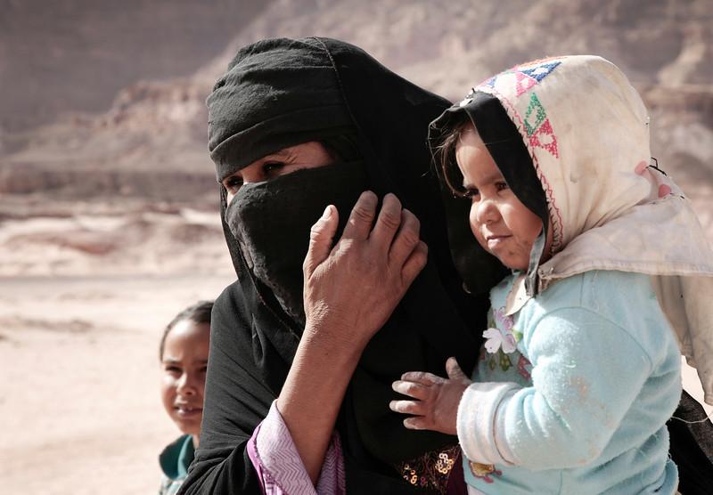 Bedouin Woman and children - Sanai Desert, Egypt