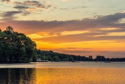 Golden Sunrise Boathouse - Hopkinton State Park - Tom Sloan