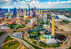 'High Above Dallas'<br /> 6/20/14<br /> Photographed from above on a helicopter<br /> © Daniel Driensky 2014