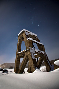 This structure is known as The Gronk. Located in Crested Butte, The Gronk is nothing more than an old piece of mining equipment left behind from the mining days of the town long before it was known for its world class skiing.