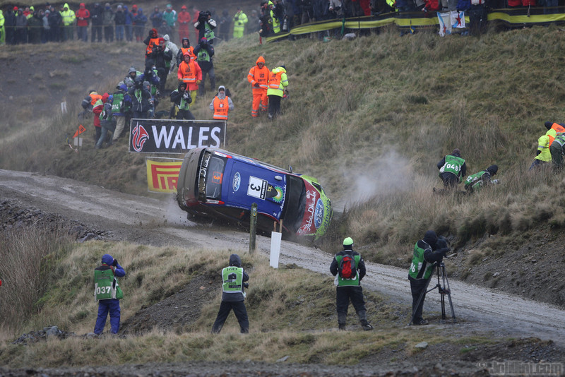 Mikko Hirvonen (FIN) / Jarmo Lehtinen. Ford Focus RS WRC. The point of no return for the Finnish Crew as they roll on the Sweet Lamb Stage of the 2008 Wales Rally GB