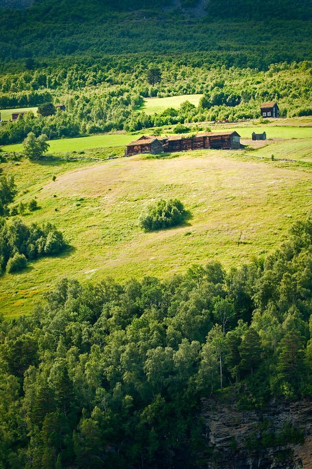 Farm on the mountain side