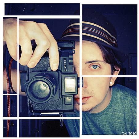 """""""The Visual Mathematician'<br />  self-portrait<br />  Daniel Driensky © 2008"""