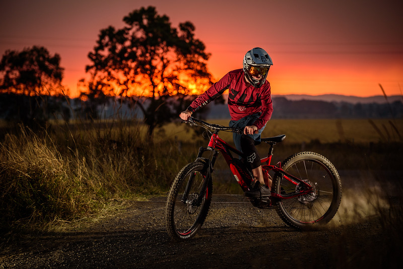 Bushfire Sunset - Clay on Merida MTB (September, 2019) (30)