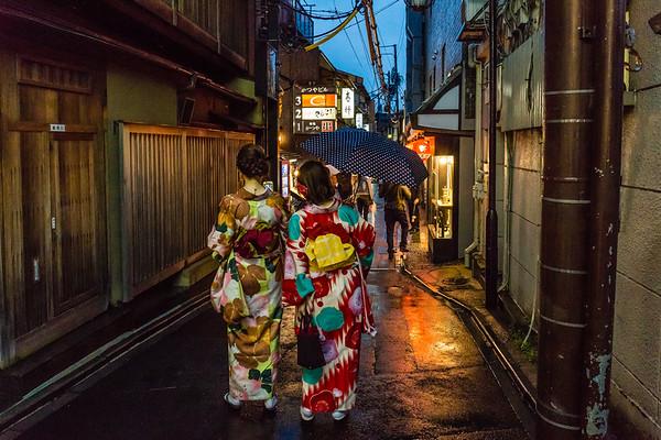 Light rain in Kyoto
