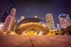 Night Bean With Graffiti<br /> Chicago, IL<br /> May 2015<br /> Photo © Daniel Driensky 2015