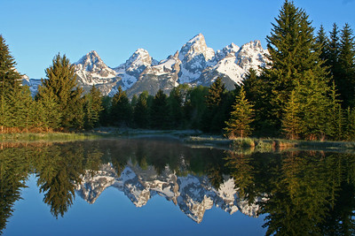 Grand Tetons Reflection. Grand Teton National Park, Wyoming.