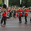 The drum major of another formation of the Queen's Trumpeters.