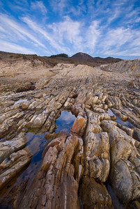 Rock and sky patterns at Montana de Oro State Park, CA.