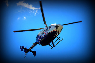 one of the top 10 shots ive taken Westchester Medical LIFENET STAT Helicopter coming in for landing at the TOPS building in Carmel, NY