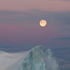 Moon rise over iceberg, South Orkneys, Antarctica<br /> The moon rises above an iceberg in amongst the packice west of Coronation Island, South Orkneys, just after sunset in November 2012. Taken from RRS James Clark Ross with Canon 5Diii and 70-200 mm f/2.8L lens; the exposure was 1/200 sec at f/8: ISO 800