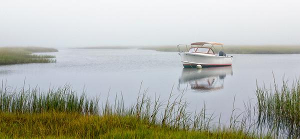 Foggy morning at Mill Creek, Yarmouthport, MA
