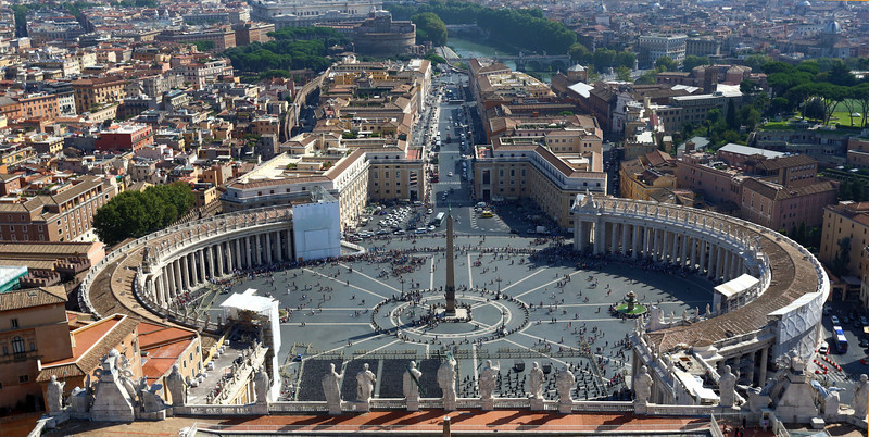 View of St. Peter's Square from top of the Dome.
