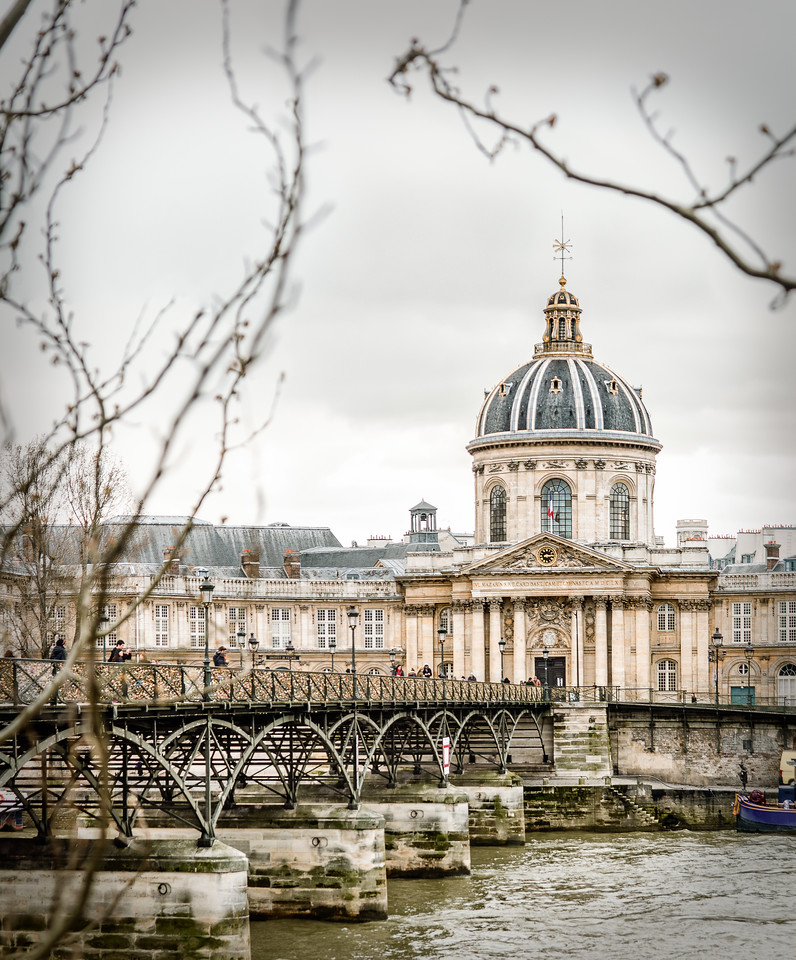 Peeking through a gloomy Paris