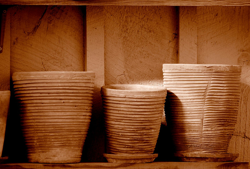 Pots On The Shelf