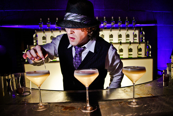 Lucky Campbell, Dallas Bartender, Entrepreneur and Mixologist<br /> The Joule Hotel Pool Deck, Dallas, TX<br /> Daniel Driensky © 2010