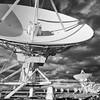 Very Large Array or VLA radio telescopes west of Socorro, New Mexico
