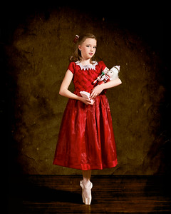 This was my favorite of the photos I took for ADFA (Academy of Dance and Fine Arts) to promote their 2010 performance of the Nutcracker.  The photo was an outtake. it wasn't suitable for their purposes but I think she looks like she was straight out of a classic painting, so I worked it over in Photoshop a bit.