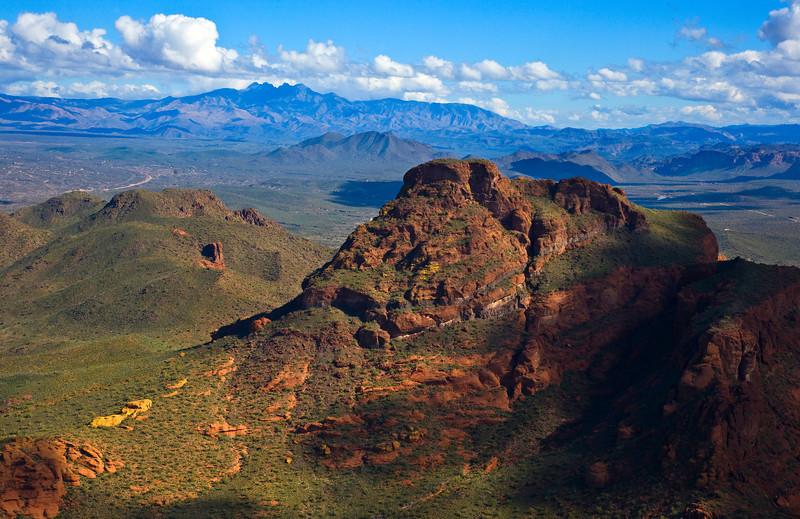 Red Mountain and Four Peaks - AZ