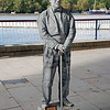 A living statue on the bank of the Thames.