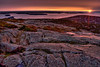 Sunrise on the top of Cadillac Mountian in Acadia National Park, Maine.
