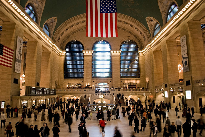 Busy Grand Central terminal in Manhattan.