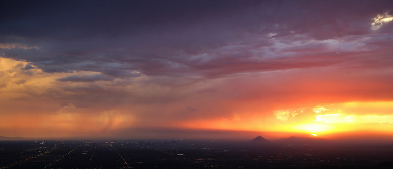 Aerial view - Monsoon Season Phoenix, AZ