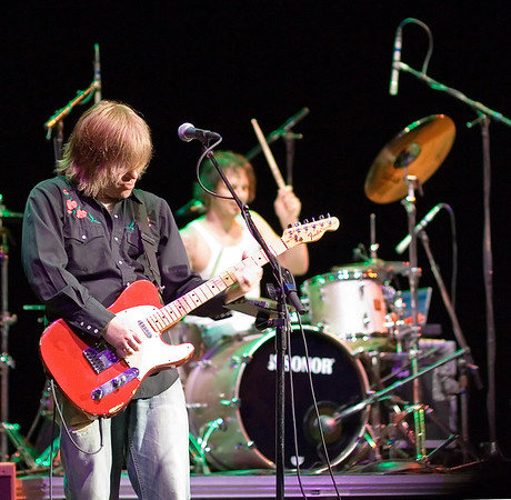 From a performance at the Palace Theatre, Greensburg, Pennsylvania May 20th 2007: Rob James (guitars and vocals), Dave Minarik (drums and vocals) of The Clarks