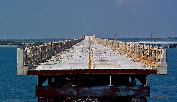 Bridge to Nowhere. Florida Keys.