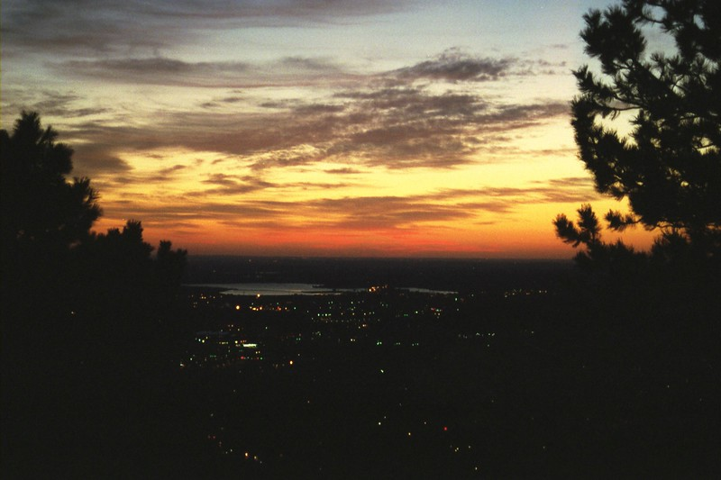 Sunrise over Boulder, Colorado, September 2005