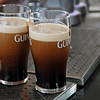 Two pints of Guinness.  It has to sit while only 2/3 full in order for the nitrogen bubbles to rise in the center and fall down the sides of the glass.  Then it is topped off.