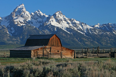 Historic Barn. Grand Teton National Park, Wyoming.