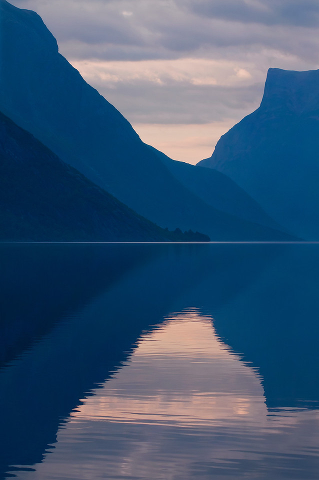 Reflections of mountains
