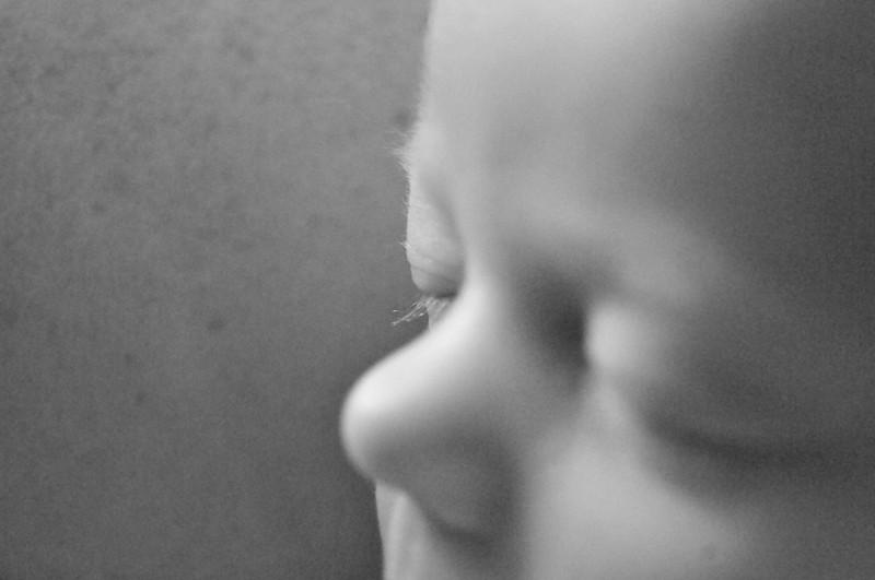 Magnolia's eyelashes - 3 days old - Boise, ID 2008
