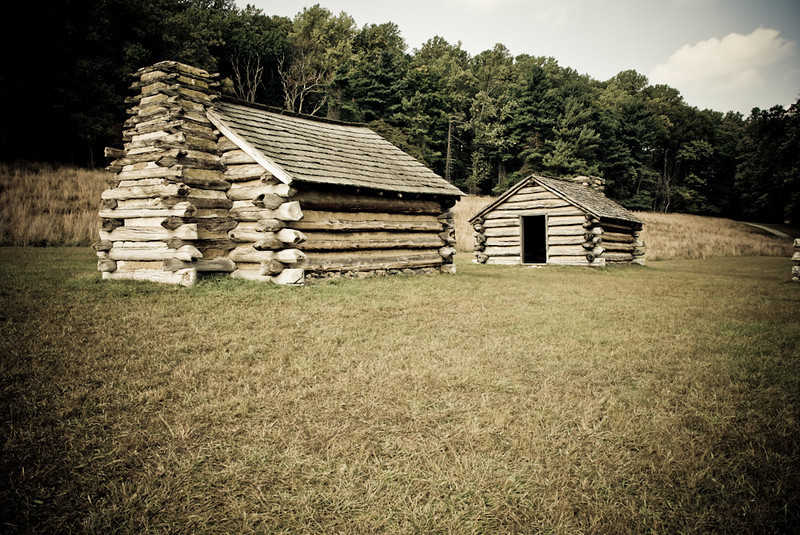 Huts At Valley Forge