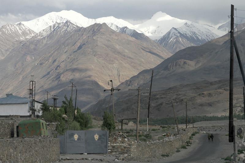 Tajik soldiers patrol the Afghan border<br /> <br /> Ishkashim, Tajikistan