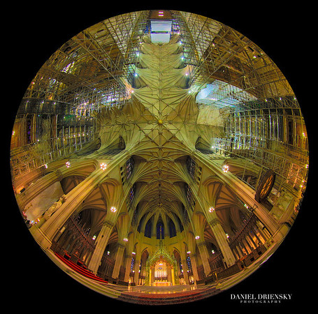 'Interior of The St. Patrick's Cathedral Under Construction'<br /> New York City, Oct 2013<br /> Photo © Daniel Driensky 2013